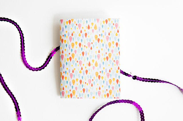 raindrop pattern notebook