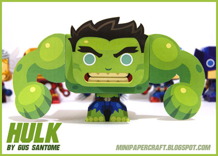 Mini Hulk Paper Toy