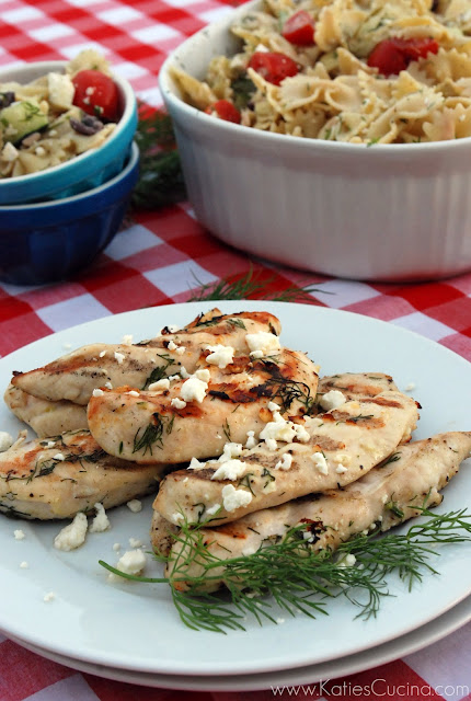 grilled greek chicken strips