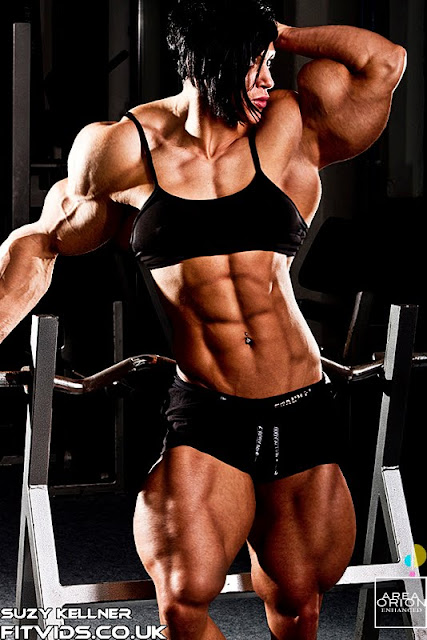 Suzy Kellner female muscle morph