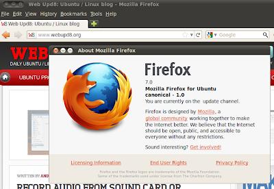 Firefox 7 ubuntu