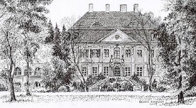 Pałac w Zaborowie – stan przed 1945 r.