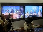 Vidéo conférence de l'Onu du 17/09/2014 à Kinshasa. Radio Okapi/Ph. John Bompengo