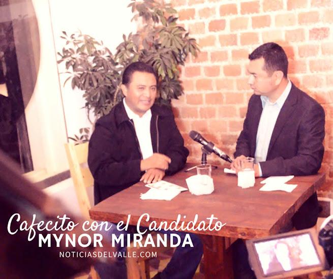 Un cafecito con el Candidato - Mynor Miranda del partido CREO-UNIONISTA