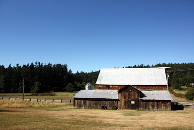 Barn on Ruckle Heritage Farm on Salt Spring Island in Canada