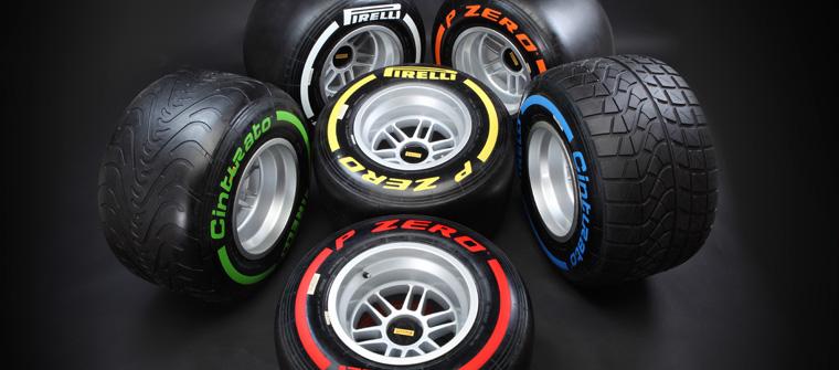 Gama de neumáticos Pirelli para la temporada 2013 de F1