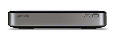 バッファロー HDW-PU3シリーズ 側面:AOSSボタン、電源ボタン