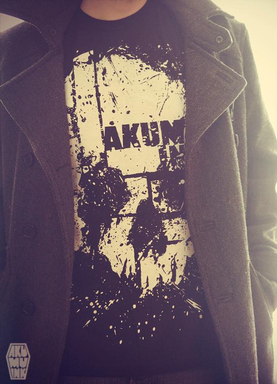 akumuink, skull tshirt, emo shirt, emo skull, black tshirt skull, skull, montreal tshirt, montreal streetwear