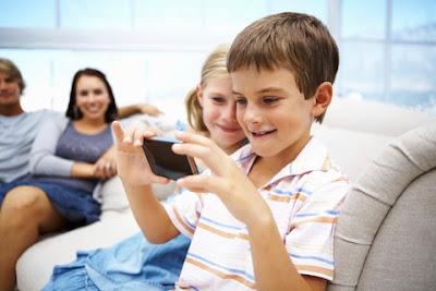 a boy using Voice4u