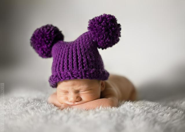 Как связать шапочку для новорожденного на фотосессию