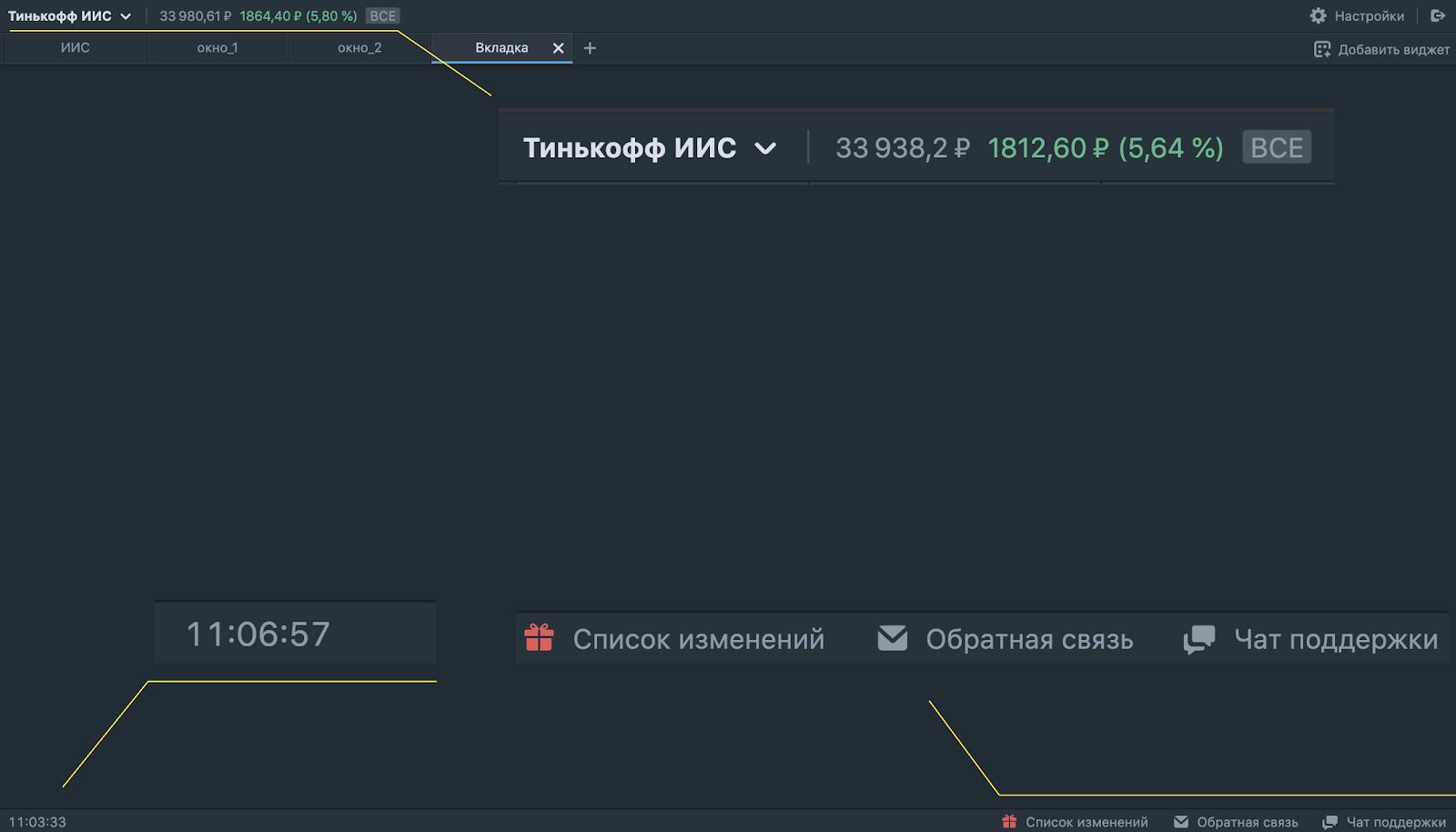 В терминале Тинькофф Инвестиций появился график из TradingView и другие обновления
