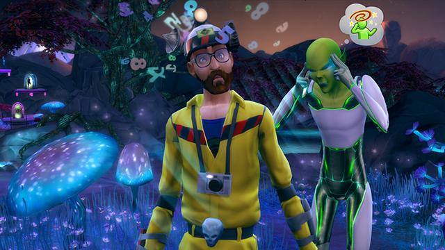 De Sims 4 Aan het Werk alien