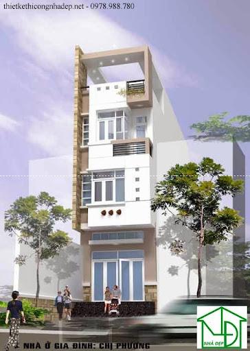 mẫu kiến trúc nhà phố số 2