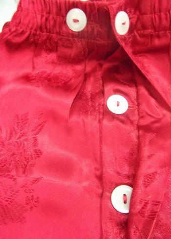 กางเกงแพรจีนแท้รุ่นเอวยาง สีแดงสด (กางเกงผู้ชาย กางเกงนอนผู้ชาย )