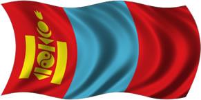Mongólia - bandeira para colorir