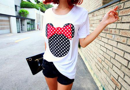 inspiração camiseta de bolinhas