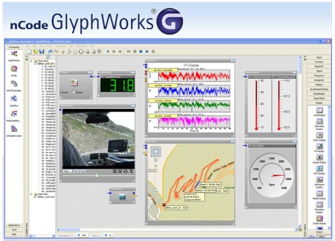 Быстрая обработка экспериментальных данных и расчет усталостной долговечности с помощью nCode GlyphWorks