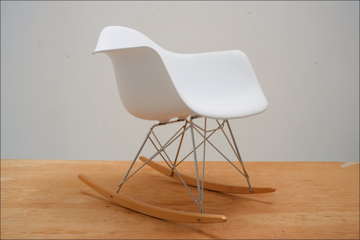 details about eames molded plastic rocking chair reproduction new