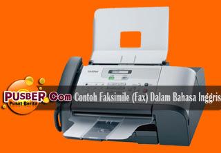 Contoh Faksimile (Fax) Dalam Bahasa Inggris