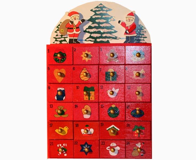 adventskalender haus rot aus holz weihnachtskalender ebay. Black Bedroom Furniture Sets. Home Design Ideas