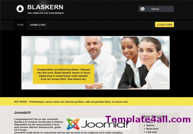 Black Yellow Business Joomla Template
