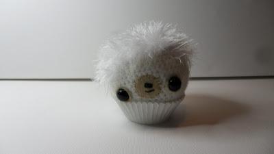 Cute Amigurumi crochet cupcake bear,Ivory. Source shows Ivory