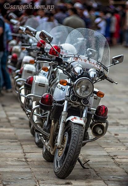 Nepal Police, Suzuki bikes