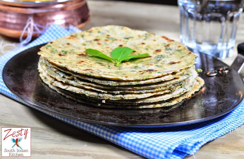 Methi Paratha /Fenugreek Leaves Flat bread