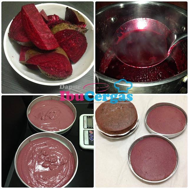 Red Velvet Cake Ubi Bit Beetroot Pewarna Semulajadi pewarna beetroot ubi bit Kronologi Eksperimen Mendapatkan Warna Merah Semulajadi Red Velvet Cake IMG 9971 tile