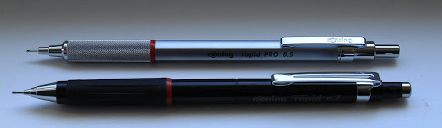rotring rapid pro and rapid mechanical pencils