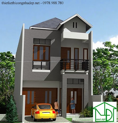 mẫu kiến trúc nhà phố số 3