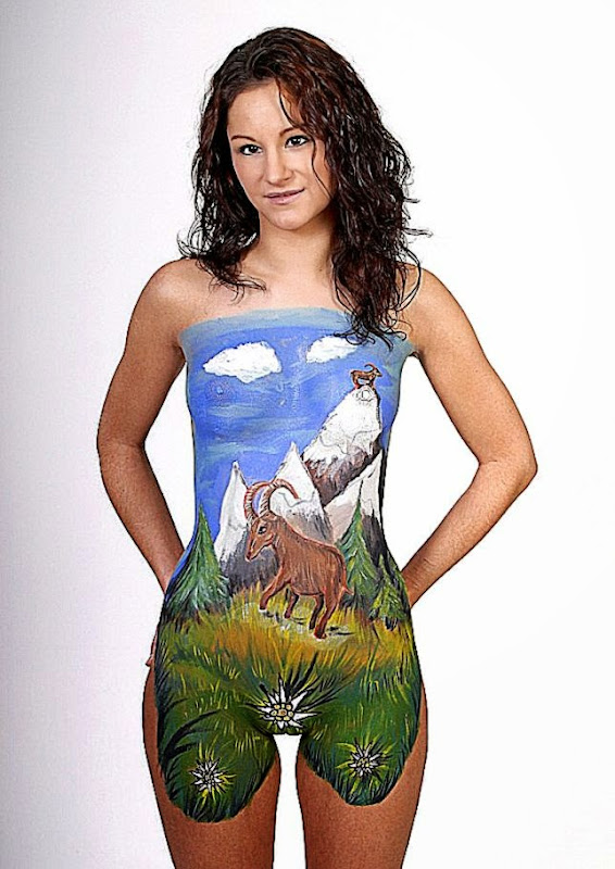 Best body painting pics body painting galleries for Best body paint pics