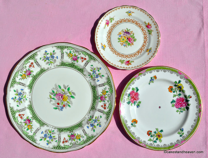 New Chelsea, Spode and Adderley tiered cake stand