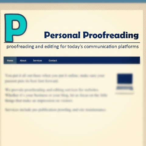 Personal Proofreading - www.personalproofreading.com