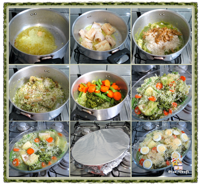 Arroz com bacalhau e legumes 4