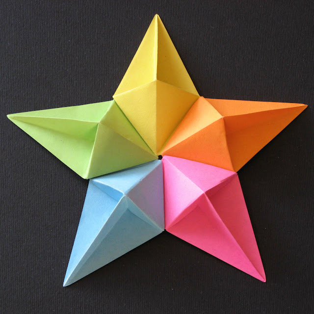 Origami modular foto Stella diamante - Diamond Star by Francesco Guarnieri