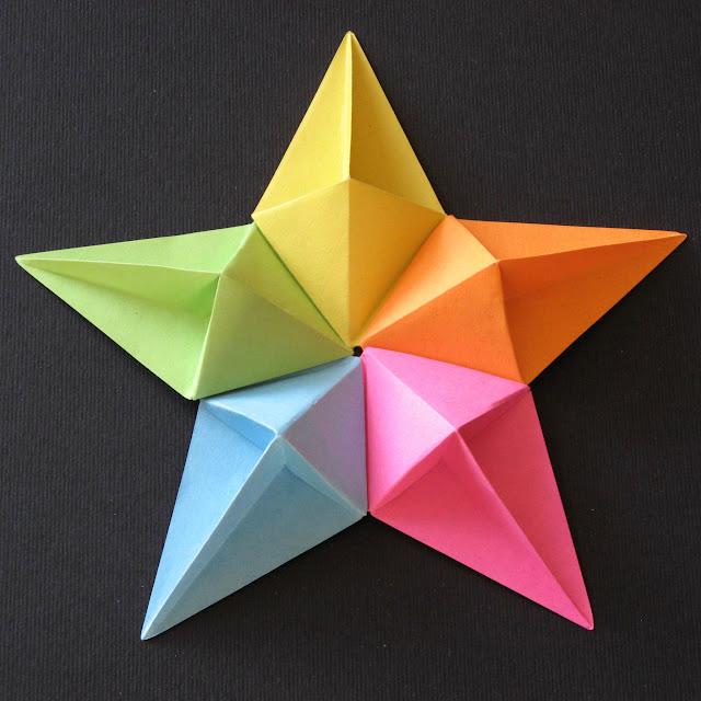 Origami modular foto Stella diamante - Diamond Star by Francesco Guarnieri