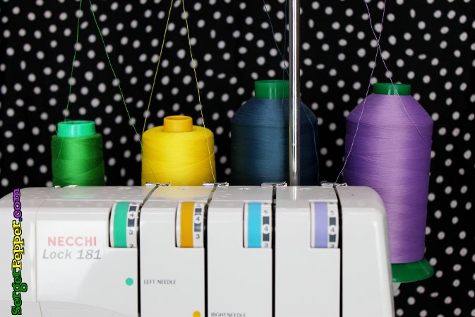 Serger Pepper - Best Serger Tension tips - threading