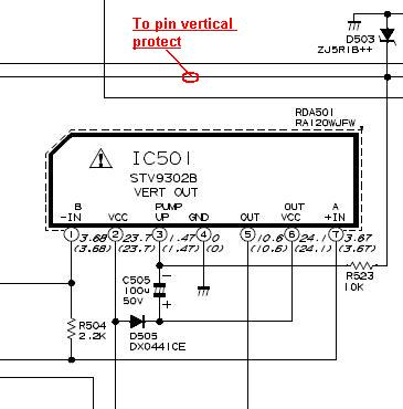 proteksi vertikal pin 65 akan potek bilamana ic vertikal rusak tidak