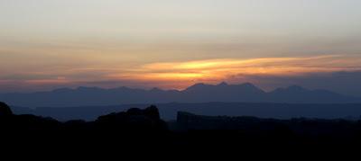 One final beautiful sunrise behind the La Sals