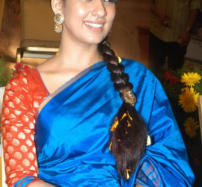 nayanthara in blue saree   hd latest tamil actress telugu