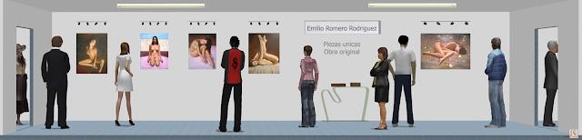 Sala de exposición virtual de pinturas de Emilio Romero Rodríguez