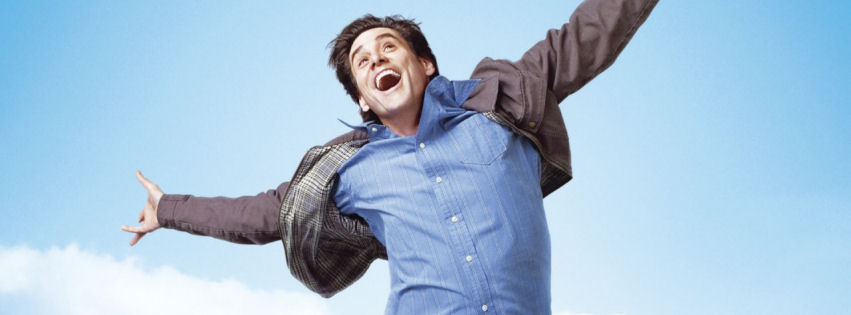 Jim Carrey in yes man facebook cover