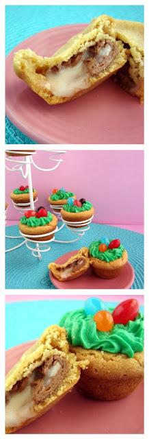 Cadbudry Cream Stuffed Cookie @KatrinasKitchen