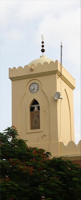 Mezquita de la isla de Saint Louis con su singular campanario