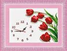 Kit thêu chữ thập: Đồng hồ chiếc lá