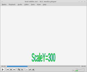ScaleY 修改字幕的高度,數值會以百分數定義