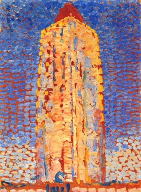 Piet Mondrian - Lighthouse in Westkapelle, 1909