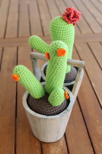 Not 2 late to craft: Cactus de ganxet núm. 2 / Crocheted cactus nº2
