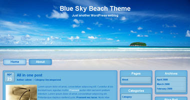 Blue Sky Beach Theme